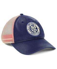 f1448b44f38 Authentic Mls Headwear New York City Fc Americana Trucker Snapback Cap -  Blue Adjustable