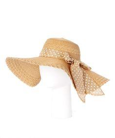 Look at this #zulilyfind! Brown Polka Dot Wide-Brim Sunhat by Belle Pink #zulilyfinds