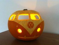 Pumpkin VW and more here: http://www.bobvila.com/articles/52-unexpected-and-amazing-ways-to-decorate-pumpkins/   Just love Bob Vila! (ML)