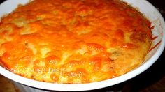Baked Garlic Cheese Grits with Sausage