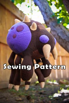 PDF DOWNLOAD Sewing Pattern Overlord Plush