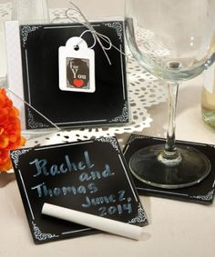 Blackboard design coaster sets http://1weddingsource.com/store/index.php/blackboard-design-coaster-sets.html