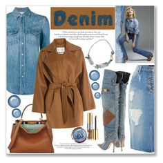 """Denim On Denim With Touches Of Brown"" by queenvirgo ❤ liked on Polyvore featuring Bardot, Fendi, Yves Saint Laurent, MaxMara, Dolce&Gabbana, Baldwin and Marni"