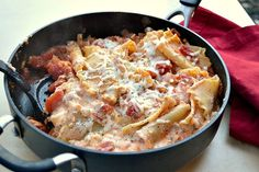 Skinny Skillet Lasagna by nutritionforus: 7 Weight Watchers Points Plus points!   #Lasagna #Skinny