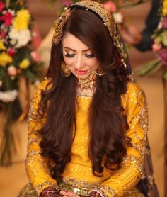 Here in this pin you can learn about bridal make up ideas. Pakistani Bridal Makeup, Bridal Mehndi Dresses, Pakistani Wedding Outfits, Bridal Dress Design, Pakistani Mehndi Dress, Bridal Lehenga, Bridal Style, Mehndi Hairstyles, Indian Wedding Hairstyles