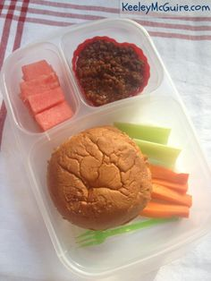 Keeley McGuire: Lunch Made Easy: Allergy Free School Lunchboxes + Crockpot Sloppy Joe Recipe! Sloppy Joe Recipe Crock Pot, Sloppy Joes Recipe, Easy Lunch Boxes, Lunch Ideas, Bento Recipes, Yummy Recipes, Crockpot Recipes, Free Recipes, Dinner Recipes