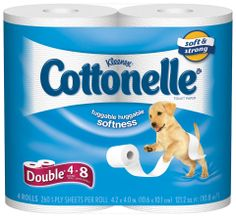 """Cottonelle """"double-roll"""" TP is a nice choice for Amigurumi Toilet Paper Covers. :)"""