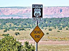 Dead End Sign on Route 66, Continental Divide Route 66, New Mexico