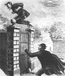 The Spring-Heeled Jack. When I was little, this guy creeped me out. I read a lot about monsters, aliens, and dinosaurs. #monster
