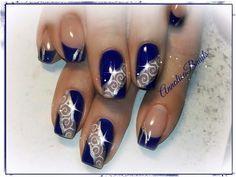 blu french argento glitter ghirigori