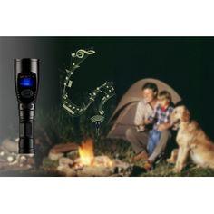 3x CREE XR-E Q5 LED Flashlight - MP3 Player, Bird Sounds For Hunting - ChinaBootik #flashlight #bitcoin #LED