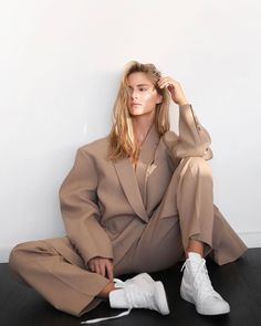"""Mija on Instagram: """"Merry Christmas to you and your loved ones 🤍"""" Shirting Fabric, Suit Fabric, Tapered Trousers, Editorial Fashion, Street Style, Style Inspiration, Stylish, Coat, How To Wear"""