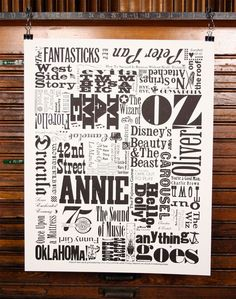 I love this - I have several friends I should buy this for. Webster Theater Guild Anniversary Letterpress Poster from Dock 2 Letterpress Theatre Geek, Theater, Seasons Posters, Awake My Soul, The Last Ship, Music Crafts, Typography Love, Music Images, My Canvas