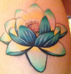 No lines lotus tattoo