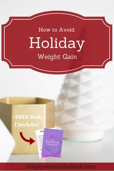Here's 5 tips on how to avoid holiday weight gain and keeping yourself on track. Just because it's the holidays doesn't mean you can't indulge.