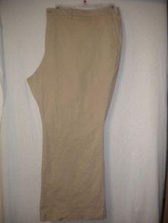 "Old Navy Plus Size 30 Short X 29"" Inseam Tummy Trimmer Rolled Oat Khaki Pants #OldNavy #KhakisChinos"