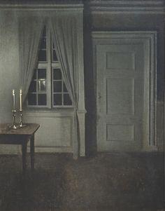 Vilhelm Hammershøi, Intérieur aux deux chandelles (1904)