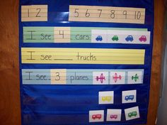 Child who is Teacher's helper can set this up and read it to the class.