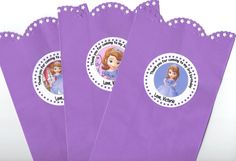 Sofia the First Goody loot treat Bag Birthday Party Thank You Gift Decorations Set of 12 personalized goodie bag on Etsy, $12.00