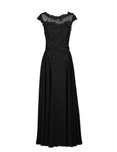 Dresstells® Women's Long Chiffon Crew Prom Dress Embr…