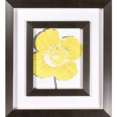 "i love  this store...Yellow Blooms I Print Under Glass 21"" High Wall Art 