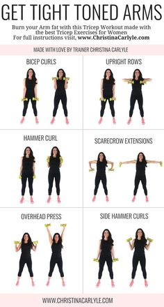 Arm workout for women & Best Arm Exercises for women that want tight toned arms. This arm workout routine was made with some of the& The post Arm Workout for Women that Want Tight Toned Arms appeared first on Griffith Diet and Fitness. Fitness Workouts, Fitness Motivation, Fit Girl Motivation, Yoga Fitness, Fitness Watch, Best Arm Workouts, Arm Workouts At Home, Fitness Goals, Upper Arm Workouts