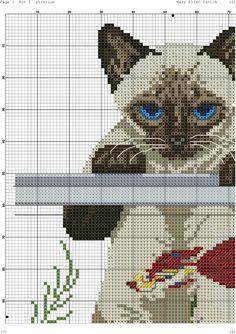 Siamese cat cross stitch