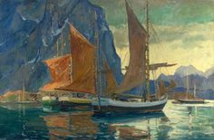 Jonas Lie, In a Northern Sea, c 1920