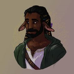 Last painting of Samir as a firbolg druid! Fantasy Inspiration, Story Inspiration, Character Inspiration, Character Concept, Character Art, Character Design, Character Ideas, Fantasy Races, Fantasy Rpg