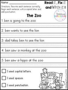 Free 1st Grade Reading Worksheets