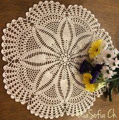 Crochet Thread Patterns, Crochet Square Patterns, Doily Patterns, Crochet Motif, Crochet Doilies, Mantel Redondo A Crochet, Crochet Placemats, Rugs, Bingo