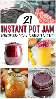 Pot Jam Recipes You Will Love · The Inspiration Edit - Instant Pot Jam is quite fun to make and really enjoyable. I always loved making strawberry jam wit -Instant Pot Jam Recipes You Will Love · The Inspiration Edit - Instant Pot Jam is quite fun to m. Strawberry Jelly Recipes, Cherry Jam Recipes, Instant Pot Pressure Cooker, Pressure Cooker Recipes, Pressure Cooking, Curd Recipe, Easy Jam Recipe, Pina Colada, Canning Recipes