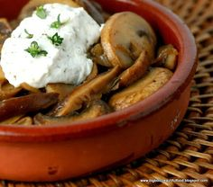 Big, Bold, Beautiful Food: Barcelona's Mushrooms with Herbed Goat Cheese
