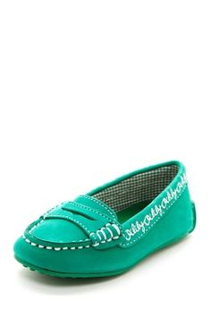 Oilily Embroidered Suede Loafer for kids