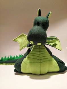 Boy sewing project idea - yoki the dragon at Once Upon A Sewing Machine
