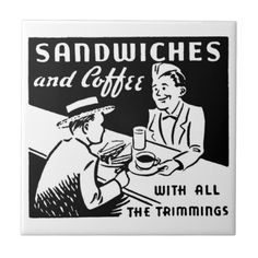 Sandwiches and #Coffee Ceramic Tiles #restaurant #decor