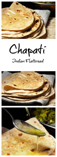 Chapati/Roti - An unleavened whole wheat Indian flatbread. Perfect for scooping up delicious Indian curry.