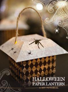 DIY Hallowen: {DIY Tutorial} Halloween Paper Lanterns