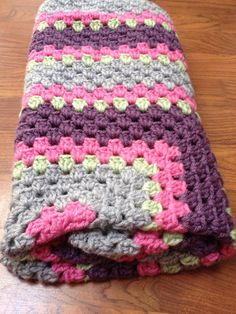 Granny Square Baby Blanket  by RollinInStitches on Etsy, $50.00