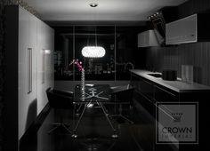Classic black, white and chrome kitchen