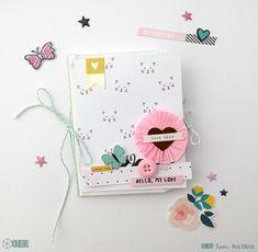 Mini álbum con bolsitas y Cute Girl!