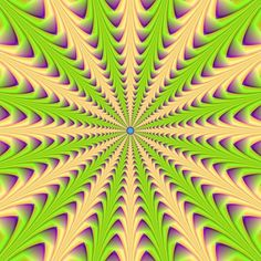 Look at the center of the image, does it seem like it's moving further away? | 10 Awesome Optical Illusions That Will Melt Your Brain