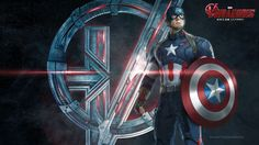 Captain America. Heroes And Villain(s) Of AVENGERS: AGE OF ULTRON Get Stylish Promo Art Character Wallpapers