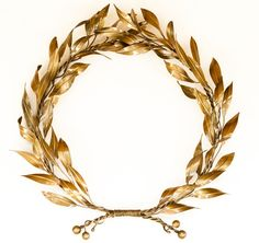 Bronze willow leaf branch wreath wall sculpture - bronze wall art product code: Dimensions: x x Handmade unique bronze piece made in our small family studio using traditional proc Crown Aesthetic, Greek Gods And Goddesses, Greek Mythology, Willow Leaf, Leaf Crown, Laurel Leaves, Greek Jewelry, Mens Silver Rings, Laurel Wreath