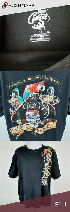 Women/'s Pirate Guin The Penguin Sailing The Sea T-Shirt
