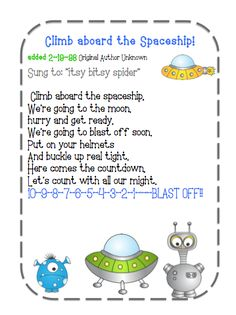 rocket songs for preschoolers 21 best images about space activities on 893 - Preschool Children Activities Space Theme Preschool, Preschool Songs, Preschool Printables, Preschool Lessons, Preschool Classroom, Space Activities For Preschoolers, Space Crafts Preschool, Circle Time Ideas For Preschool, Transition Songs For Preschool