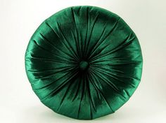 Emerald Silk Velvet Round Pillow by Original Boutique - Contemporary - Pillows - by Etsy