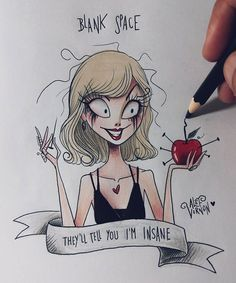 Taylor Swift Blank Space Fanart