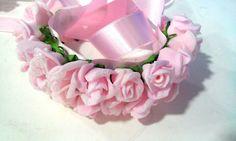 porta coque de flores de EVA para bailarina e outros  nas cores salmão,rosa bebe,rosa pink, branca, amarela azul bebe e outras cores a combinar.