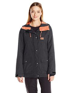 DC Womens Cruiser Tailored Fit Snow Jacket Black M ** Want to know more, click on the image. #WomensOutdoorClothing